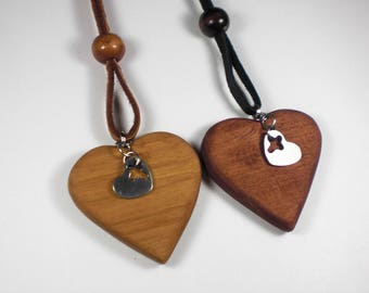 Rear View Mirror Heart-Heart, Cross Charm