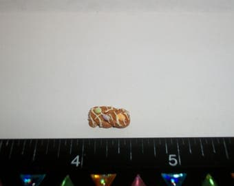 Dollhouse Miniature Handcrafted Braided Easter Egg Bread Dessert Cake Doll Food ~ 1/2 inch - 1442