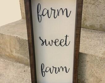 Farm Sweet Farm Reclaimed Wood Sign