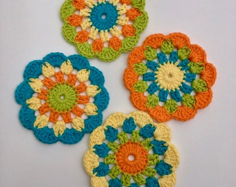 Special Order!!  Crochet blanket and crochet coasters