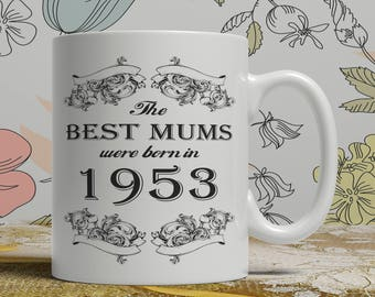 Mum 65th birthday mug mum 65 birthday mug for mum gift ideas for mum present for mum, Any year available on request FF B Mum 1953