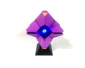 Destiny Ghost 3D Printed w/LED - Purple (with display stand)