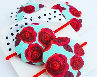 red roses hair elastics hair ties for little girls hair accessories