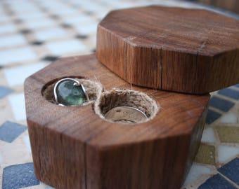 Infinity Ring Box - Reclaimed Timber - Wedding Ring Box - Ring Bearer Box - Octagonal Jewellery Box