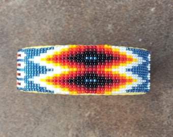 Beaded Bracelet, Navajo Jewelry,Native American Bracelet,navajo beads,native american jewelry,Beaded Navajo Cuff Bracelet,VIBRANT