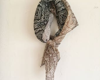 vintage mini square scarf | neckerchief | bandana | found by Alexandra Victoria McMaster
