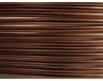 Aluminum wire 2 mm chocolate - jewelry creations and floral designs - 6 m roll
