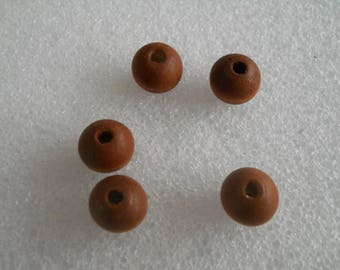 Brown natural wood bead