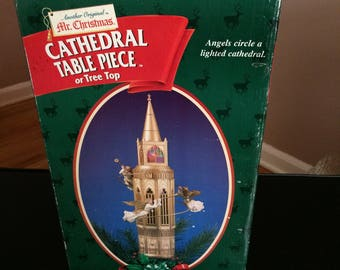 mr christmas cathedral table piece or tree top display - Mr Christmas Tree