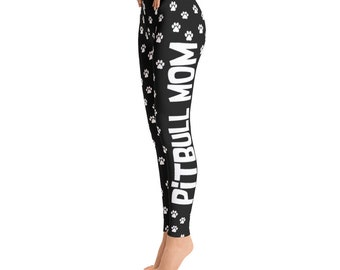 Pitbull Mom Leggings - Pitbull Leggings - Toddler Leggings - Printed Leggings - Cut out Leggings - Yoga Leggings