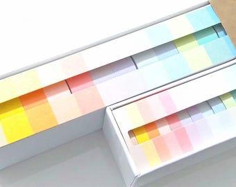 12 Pastel Washi Tape Set - Pink - Blue - Green - Macaron - Deco Masking Tape