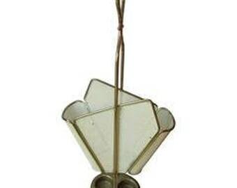 Antique brass umbrella stand, 19th c.