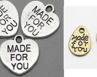 Made for you, heart, heart, heart pendant, vintage style, pendant, charm