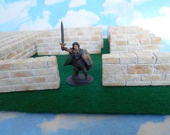 One inch limestone walls