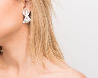 Silver Bohemian Earrings,Moroccan Earrings, Everyday Silver Earrings, Moroccan Jewelry, Berber Earrings, Tribal Earrings, Ethnic Earrings