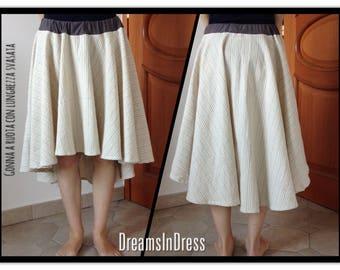 Full skirt with flared long