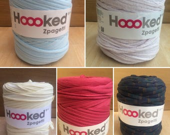 Tshirt yarn, Hoooked Zpagetti Yarn, Recycled T-shirt Yarn,  Jersey Yarn, Big Bobbin Yarn, Crochet yarn, knitting yarn