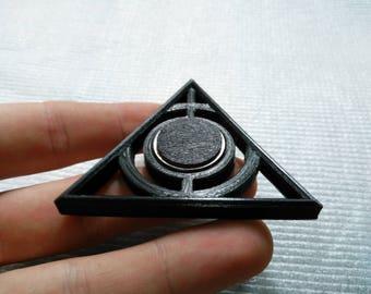 Deathly Hallows Mini Harry Potter Inspired Hand Spinner Toy Fidget Finger Hybrid Ceramic Bearings