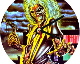 Iron Maiden Wall Clock / Clocks . kitchen living room bedroom 30cm diameter