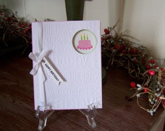 Handmade Girls Birthday Greeting Card