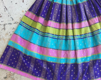 1950s jewel toned skirt
