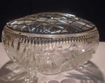Vintage cut glass rose bowl