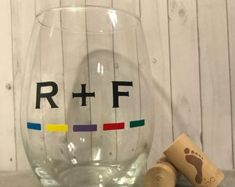 Rodan + Fields inspired wineglass, gifts for her, personalized boss gift, wine glass