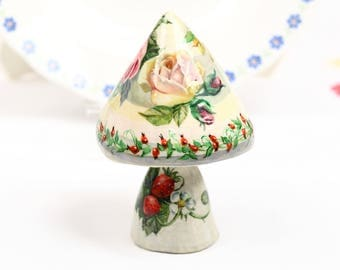 Collectible Art Gifts for Her, Home Decor Painting Art Handmade Figurine Collectible Figurine Roses Gift Ideas Handmade Gift