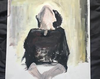 Painting, acrylic, original, art, women, woman