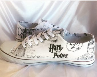 Harry Potter inspired shoes - Custom Dumbledore's Army inspired fabric trainers
