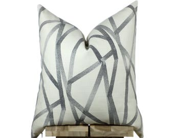 Cream Pillow Cover | Intersecting Lines