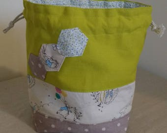 Peter rabbit drawstring project bag