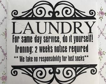 Laundry Decal - Medium