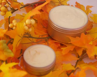 Travel Size Handmade Unscented Coco-Free Vegan Whipped Body Butter With Shea Butter For Skin and Natural Hair. Gifts
