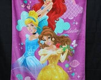 Disney Princess Towels - Make Your Own Destiny Towel - Ariel Little Mermaid - Belle Sleeping Beauty - Cinderella - Girls Cute Towels