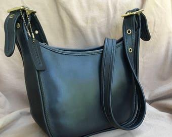 Vintage Coach Janice Black Shoulder Bag Medium 9950