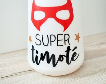 BEDSIDE lamp custom with name - themed super hero
