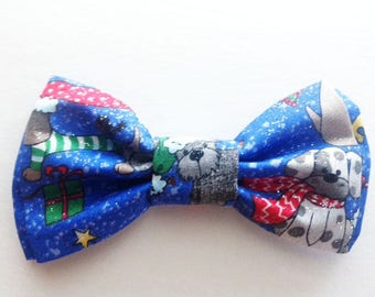 Bow Tie,Boys Bow Tie, Blue Print Bow Tie, Boy's Bow Tie, Christmas Bow Tie,BowTie,Blue Tie for Men,Baby Bow Tie,Bowte,Christmas Bow Tie B458