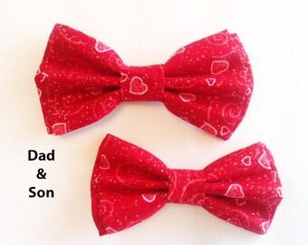 Bow Tie, Mens Bow Tie, Dad and Son Bow Tie, Dog Bow Ties, Matching Dog Bow Tie, Valentines Bow Tie, Dog Bowtie, Bowtie, Boys Bow Tie  DS755