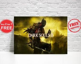 Dark Souls Poster-Dark Souls Metal Poster-Dark Souls-Gaming Metal Poster-Gamers Poster-Wall Decoration-Gamers Wall Art-Dark Souls Art