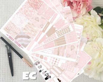 Marble Rose Weekly Planner Sticker Kit