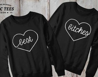 Best Bitches Sweatshirt BFF Flawless Sweater Jumper