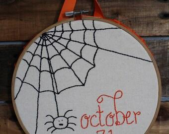 October 31, Halloween Hoop Art