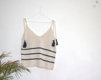Keeley Vest Top Knitting Pattern