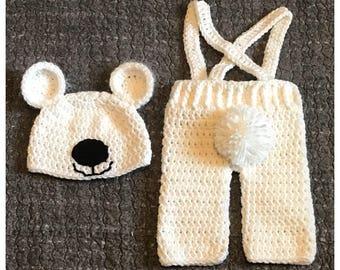 Polar Bear Baby Costume, Polar Bear Baby Outfit, Christmas, Polar Bear Costume, Polar Bear Outfit, Baby's First Christmas, Baby Polar Bear