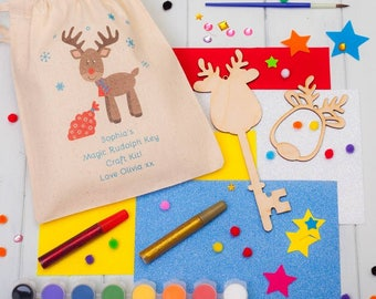 Personalised Make Your Own Magic Reindeer Key Craft Kit