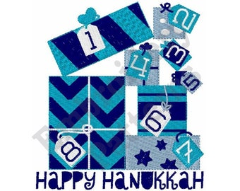 Happy Hanukkah - Machine Embroidery Design