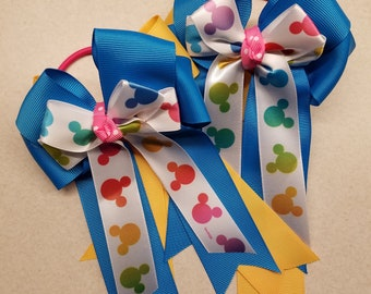 Disney themed horse show bows