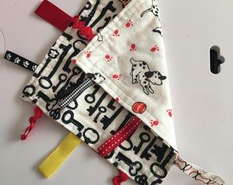 Dalmation dogs & keys flannel lovie