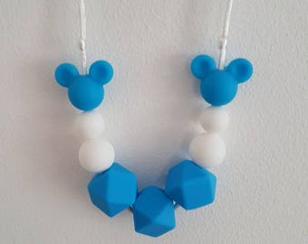 Mickey Mouse Teething necklaelce, sensory, baby shower gift, go, accessories